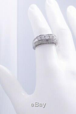 1.0 Carats Very Fine Diamonds Antique Look 14 Kt White Gold Ring Exceptional