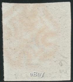 1840 SG3 1d GREY BLACK PLATE 2 VERY FINE USED 4 MARGINS RED MALTESE CROSS (GF)