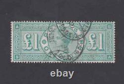 1887 QV Sg 212 £1 One Pound Green Jubilee VFU AS SA Cat £800