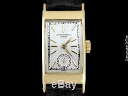 1937 PATEK PHILIPPE Tegolino Vintage Mens 18K Gold Watch, Very Fine Warranty