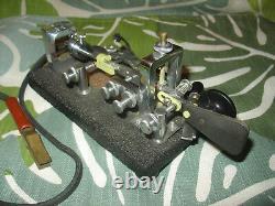 1944 Vibroplex Original Bug 833 Broadway St NY SN 132155 Blk Base Very Fine Cond