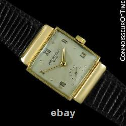 1947 PATEK PHILIPPE Vintage Mens 18K Gold Watch Very Fine & Rare with Papers