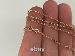 24.5 Inches Fine 9ct Gold Chain Necklace Very Beautiful Box Type Link