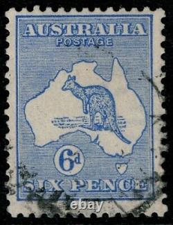 2nd WATERMARK KANGAROOS VERY-FINE-USED SCARCE 1915 LIMITED ISSUE CV $1,335