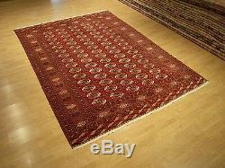 7 x 10 Very Fine Handmade Antique Tekke Turkoman Collectable Veggie Dye Wool Rug