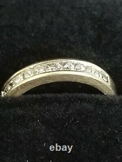 70ct Very Fine Princess Cut DIAMOND Wedding Band Ring SOLID 14k Yellow Gold