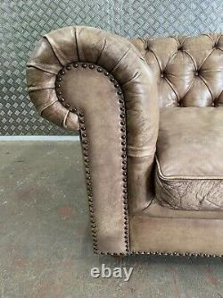 A Fine EICHHOLTZ very Large 4 Seater Leather Chesterfield Sofa RRP 10k