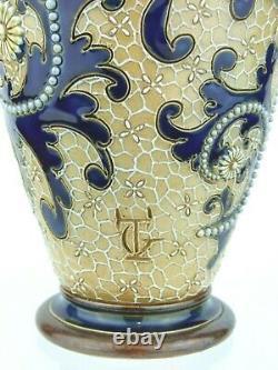A Very Fine Doulton Lambeth Scrolling Seaweed Vase by George Tinworth