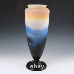 A Very Fine Monumental Galle Landscape Vase c1915