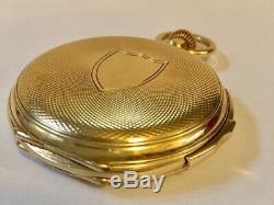 A Very Fine Quarter Repeating 18k Gold Full Hunter Pocket Watch
