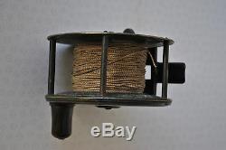 A Very Fine Vintage 4 1/2 Farlow Patent Lever Drag Scarce Script Salmon Reel