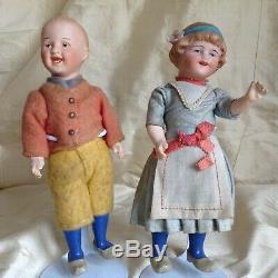 A couple off very fine original William Goebel and Heubach dolls