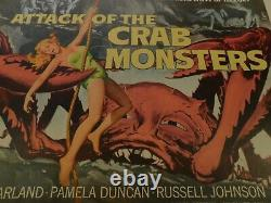 ATTACK OF THE CRAB MONSTERS Original 1957 Movie Poster, C8.5 Very Fine/Near Mint