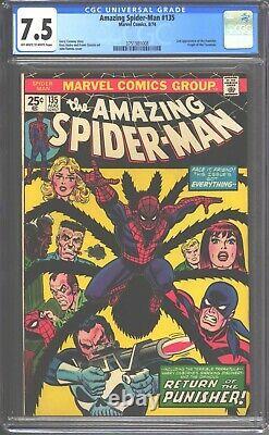 Amazing Spider-Man #135 CGC 7.5 (1974) 2nd appearance & Origin of Punisher