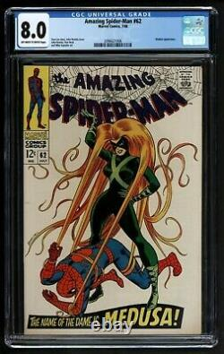 Amazing Spider-Man #62 Comic CGC VFN Marvel Comics Great Medusa cover