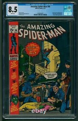 Amazing Spider-Man #96 Marvel Comics CGC Very Fine Plus Banned Drugs Storyline