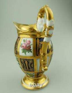 An extraordinary & very fine antique Old Paris porcelain gilt Jug C. Early 19thC
