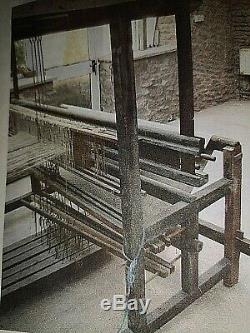 Antique Rare HUGUENOT Fine Weaving Vintage Large Wood Floor Loom Very Old