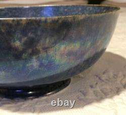 Antique Ruskin England Pottery Bowl Blue Eggshell Very Fine Porcelain Elegance