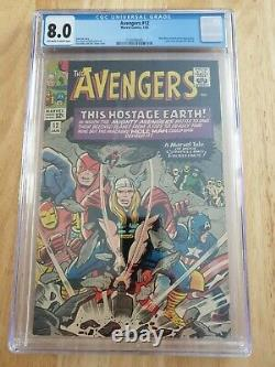 Avengers #12 Marvel Comics CGC 8.0 Letter from George R R Martin 1965