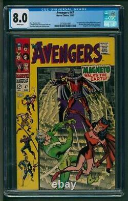 Avengers #47 Marvel Comics CGC Very Fine First new Black Knight Vs Magneto