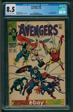 Avengers #58 Marvel Comics CGC Very Fine Plus Origin of The Vision