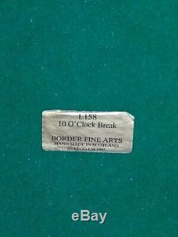 BORDER FINE ARTS, Limited Edition, 10 O'CLOCK BREAK, Stunning, 1995, Very Rare