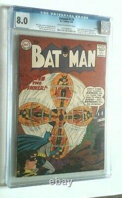 Batman # 129 Cgc 8.0 1960 Savannah Pedigree