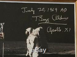 Buzz Aldrin Signed Inscribed Lunar Landing Photo RR COA Very Fine