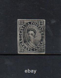 Canada #3 Very Fine Used With Rare 4 Ring 21 Cancel With Certificate