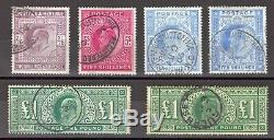 Edward VII High Value Selection 2/6d to £1 (Both Shades) Very Fine Used Examples