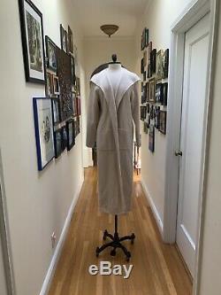 Eileen Fisher -Sz S Very Fine Wool Cashmere Minimalist Bone Coat Jacket