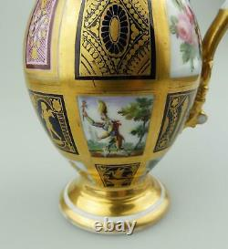 Extraordinary & very fine antique Old Paris porcelain gilt Jug C. Early 19thC