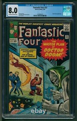 Fantastic Four #23 Comic CGC Very Fine Versus Doctor Doom