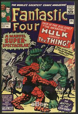 Fantastic Four 25 Marvel Comics VFN Minus Thing vs Hulk battle ORIGINAL OWNER
