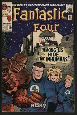 Fantastic Four 45 Marvel Comics VFN Plus First Inhumans ORIGINAL OWNER
