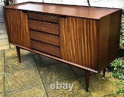 Fine Retro Teak Danish Looking Richard Hornby Sideboard, Very Clean We Deliver