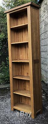 Fine Single Slim Jim Solid Light Oak Tall Modern Bookcase Very Clean We Deliver