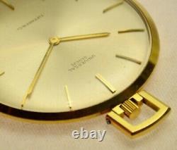 Fine Vintage 18k Gold Universal Tiffany Very Thin Dress Pocket Watch Classic