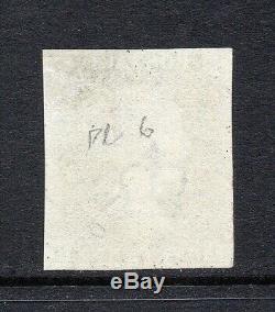 GB QV SG2 1d Black Plate 6 Very Fine Used Magenta Maltese Cross Cert Cat £3,000