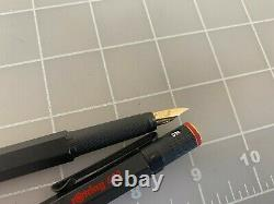 Judd's Very Nice Rotring 600 Black Fountain Pen with18kt. Gold Extra Fine Nib