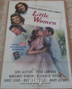 LITTLE WOMEN MOVIE POSTER 1 SHEET 1949 ORIGINAL FOLDED 27x41 ELIZABETH TAYLOR
