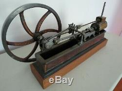 Live Steam Engine Horizontal, Very Fine, Ca 1850, True to Scale, Original Paint