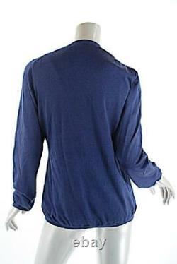 MALO Navy Cashmere Silk Blend V Neck Twinset Sweater Sz 48 US 12 Very FINE