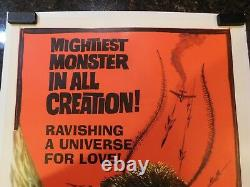 MOTHRA Original 1962 Movie Poster, 27 x 41, C8.5 Very Fine to Near Mint