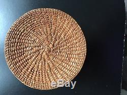 Makah-Nootka Very Fine Lidded Basket