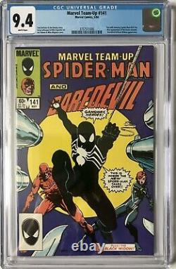 Marvel Team Up #141 Cgc Nm (9.4) 1st Black Costume / White Pages / Asm252