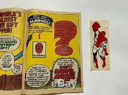 Mighty World Of Marvel No 2 1972 + Free Gift Spidey Transfer Very Fine
