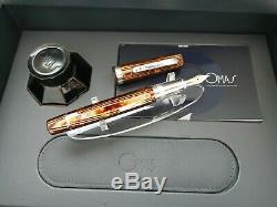 OMAS Grand Paragon Arco Brown Celluloid 18K Fine Nib Fountain Pen Very Rare