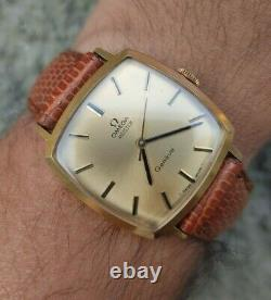 OMEGA Geneve MEISTER Cal 601 Mechanical Vintage Mens Watch Works Fine Very Rare
